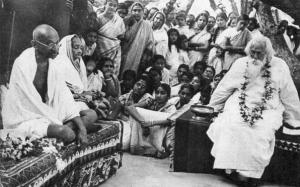 Santiniketan tagore gandhi 1940