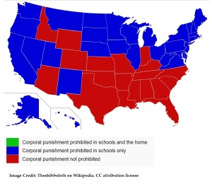 corporal punishment map