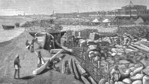 grain on the port of Madras