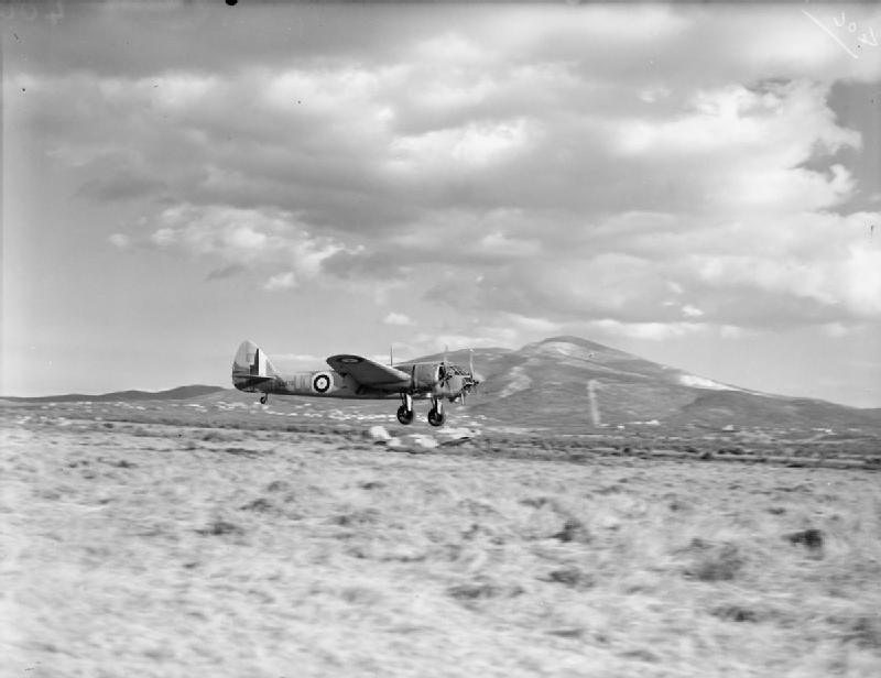 WWII Greece 211_Squadron_RAF_Blenheim_landing_Greece_WWII_IWM_CM_290