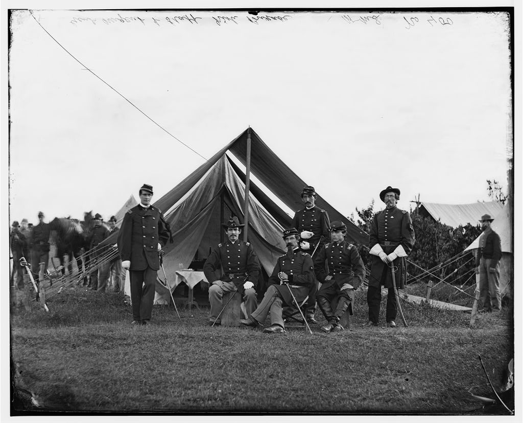 irish brigade Gen._Robert_Nugent_and_his_staff,_Irish_Brigade,_Washington,_D.C._(vicinity)