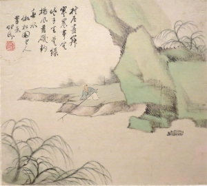 Tang Fi 1856 'Hermitage in the_Mountains' rhythm,_painting_by_T'ang_I-fen